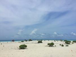 Salah satu sandbank di Maldives.